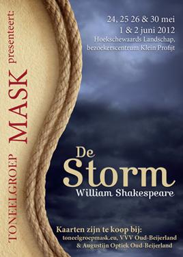 Poster voorstelling De Storm