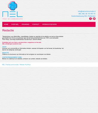 Homepage NEL redactie