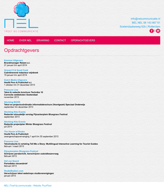 Homepage NEL opdrachtgevers