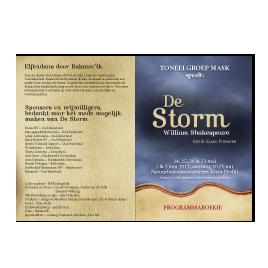 De Storm: programmaboekje