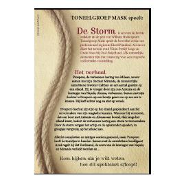 Flyer toneelproductie De Storm