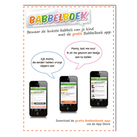 Advertentie Babbelboek-app