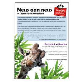 Advertentie actie dierentuin