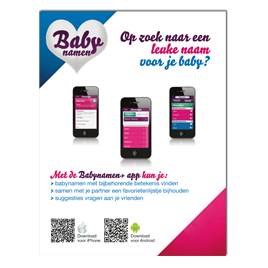 Advertentie Babynamen+ app