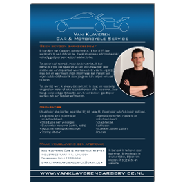 Flyer Van Klaveren Car & Motorcycleservice