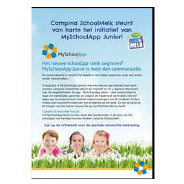 Leaflet met aanbieding van Campina Schoolmelk