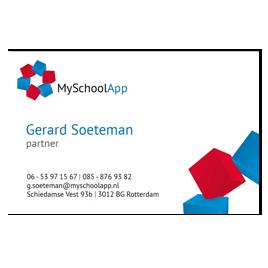 Visitekaartjes MySchoolApp