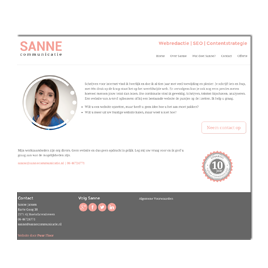 Website Sanne Communicatie